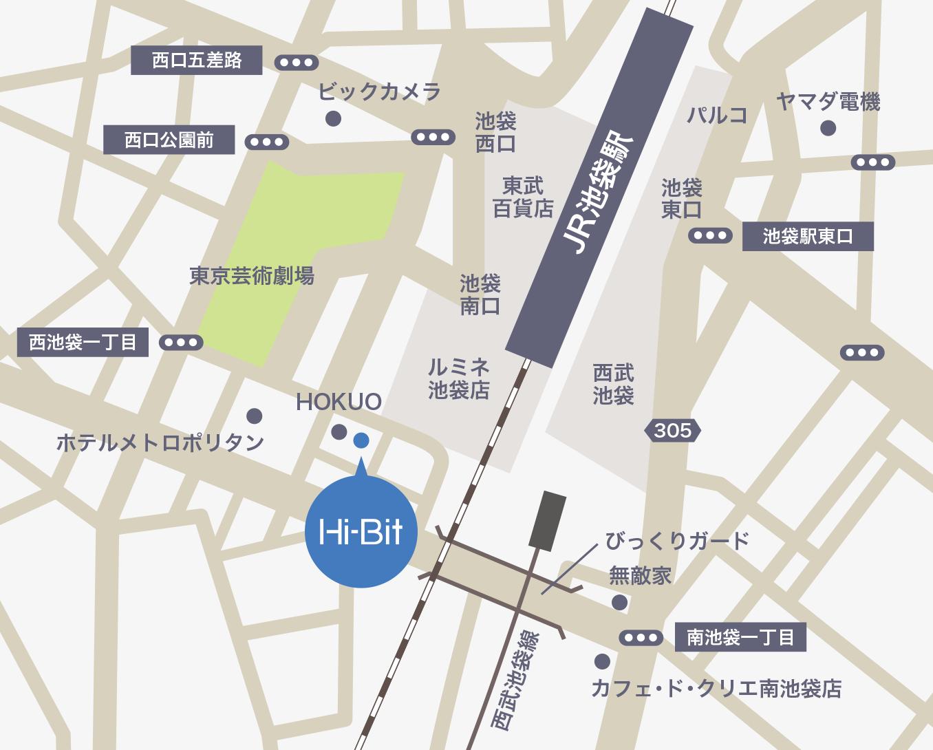 株式会社Hi-Bit(ハイビット)の地図
